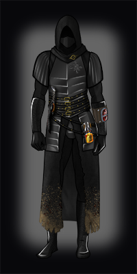 Chief inquisitor armor black hood